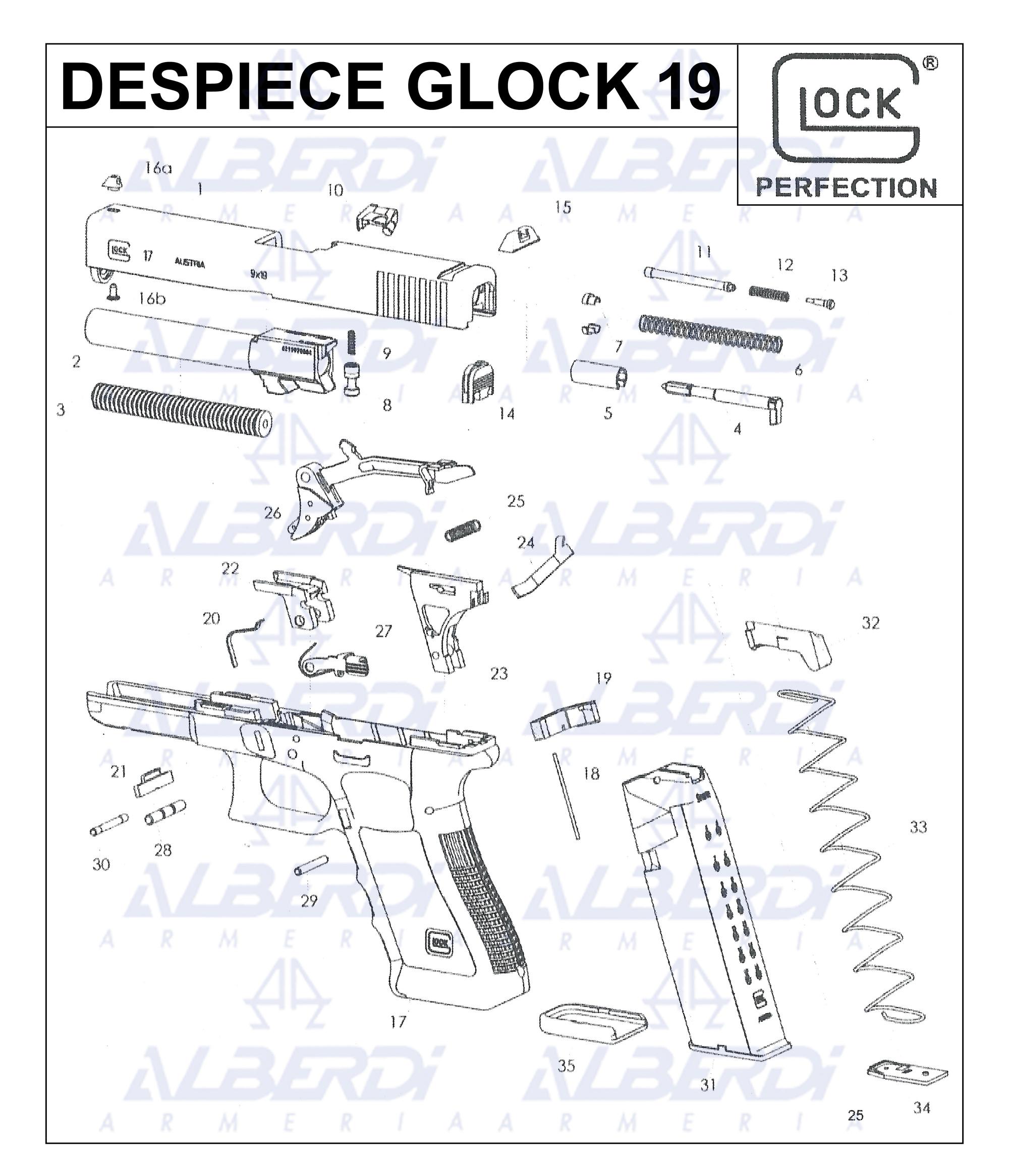 Glock modelo 19 001 Agua