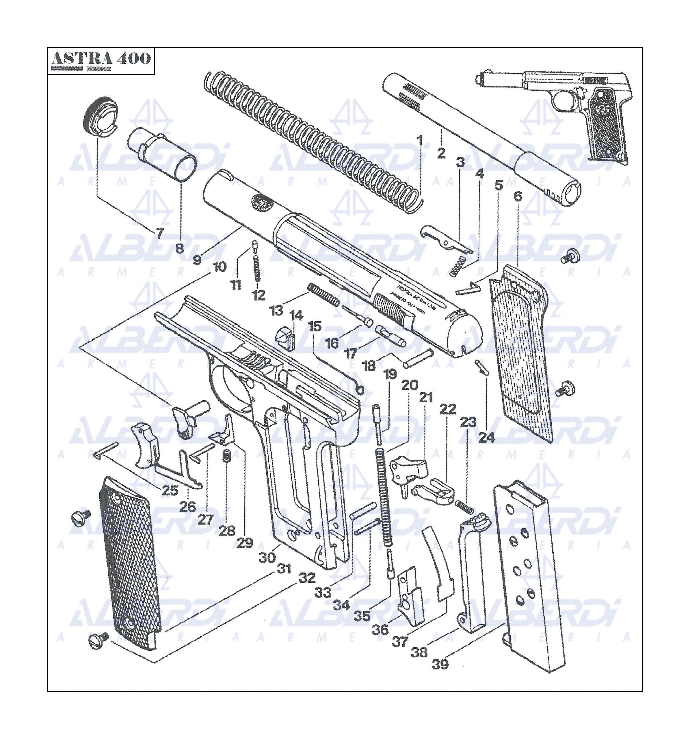 Astra modelo 400 9mm. largo 001 Agua